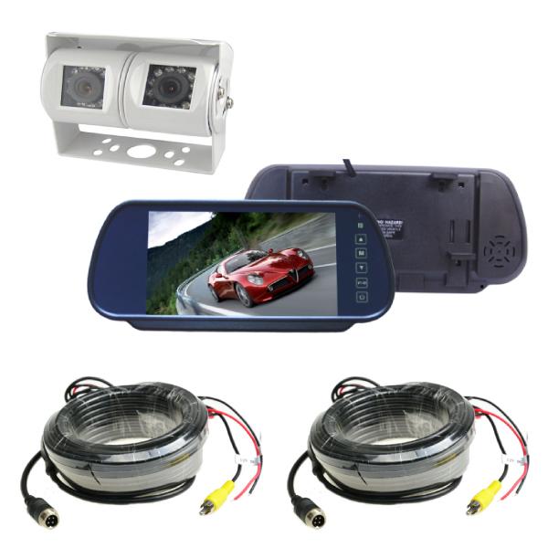Mirror Monitor 7 Inch & Dual Camera 20m Clip On 1