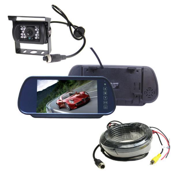 Mirror Monitor 7 Inch & Single Camera 10m Clip On 1